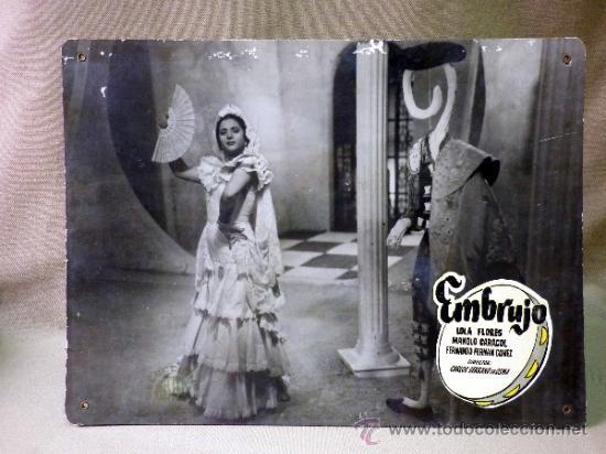 Cine: FOTOCROMO ORIGINAL. PELICULA EMBRUJO. LOLA FLORES. MANOLO CARACOL. ESPAÑA 1947 - Foto 2 - 158328284