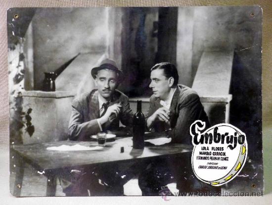 Cine: FOTOCROMO ORIGINAL. PELICULA EMBRUJO. LOLA FLORES. MANOLO CARACOL. ESPAÑA 1947 - Foto 2 - 37825400