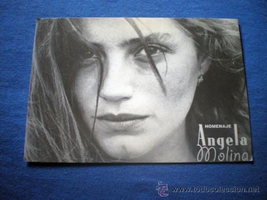 POSTAL HOMENAJE A ANGELA MOLINA 18 MOSTRA DE VALENCIA NO CIRCULADA (Cine - Fotos y Postales de Actores y Actrices)
