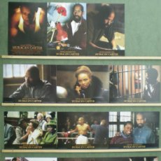 Cine: TM16 HURACAN CARTER DENZEL WASHINGTON BOXEO SET COMPLETO 12 FOTOCROMOS ORIGINAL ESTRENO. Lote 38432007