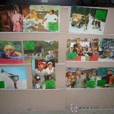 Cinema: EL RALLY DE MONTECARLO AUTOMOVILISMO TONY CURTIS 11 FOTOCROMOS ORIGINALES. Lote 38914385