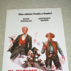 Cine: EL ÚLTIMO TREN DE GUN HILL, KIRK DOUGLAS, ANTHONY QUINN, 12 FOTOCROMOS, LOBBY CARDS, WESTERN. Lote 46901772
