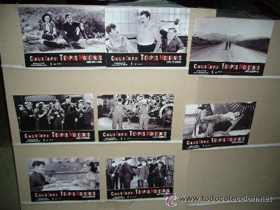 TIEMPOS MODERNOS CHARLES CHAPLIN JUEGO COMPLETO (Cine - Fotos, Fotocromos y Postales de Películas)