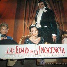 Cine: LA EDAD DE LA INOCENCIA MICHELLE PFEIFFER DANIEL DAY-LEWIS WINONA RYDER 4 FOTOCROMOS ORIGINALES B1. Lote 39056256