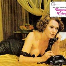 Cine: EMANUELLE VICIOSA FOTOCROMO ORIGINAL DEL ESTRENO DE LA PELICULA LOBBY CARDS LAURA GEMSER . Lote 39307315