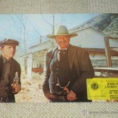 Cine: EL ÚLTIMO PISTOLERO, JOHN WAYNE, LAUREN BACALL, 12 FOTOCROMOS, LOBBY CARDS, WESTERN. Lote 47132024