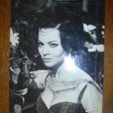 Cine: FOTO-POSTAL DE LA ACTRIZ ESPAÑOLA SARA MONTIEL. RODAJE: LA REINA DEL CHANTECLER. 1963. Lote 39539719