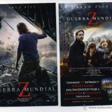Cine: GUERRA MUNDIAL Z, CON BRAD PITT.. Lote 118423446