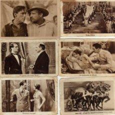 Cine: 6 CROMOS DE PELICULAS,CON PUBLICIDAD DE CHOCOLATES JUNCOSA-CHOCOLATES COMET-Y GARRIGA. Lote 39790890
