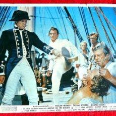 Cine: REBELION A BORDO 1962 (JUEGO DE 5 FOTOCROMOS ORIGINALES ESTRENO EN ESPAÑA) MARLON BRANDO. Lote 40002904