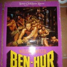 Cine: BEN-HUR CHARLTON HESTON WILLIAM WYLER FOTOCROMO ORIGINAL DEL ESTRENO 34X48 CM . Lote 40286804