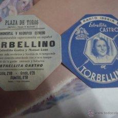 Cine: FOLLETO DE MANO TORBELLINO ESTRELLITA CASTRO PLAZA DE TOROS FRIAS Y MARTIN. Lote 40526013