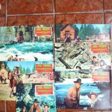 Cine: EL RIFLE Y LA BIBLIA . 7 FOTOCROMOS . ORIGINAL KATHARINE HEPBURN , JOHN WAYNE. Lote 40960090