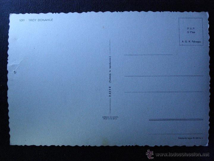 Cine: POSTAL DE TROY DONAHUE - Sin circular - - Foto 2 - 41096270