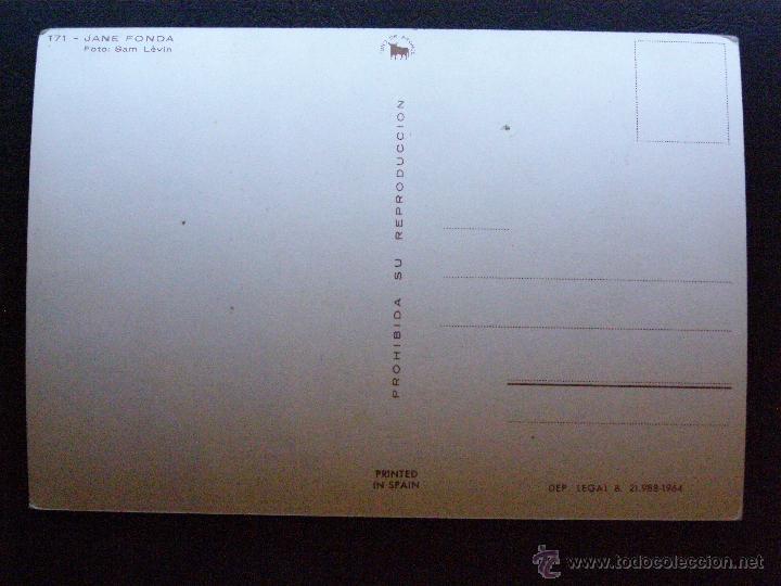 Cine: Antigua Postal - Jane Fonda - Nueva - Sin escribir ni circular - 1964 - - Foto 2 - 41216117