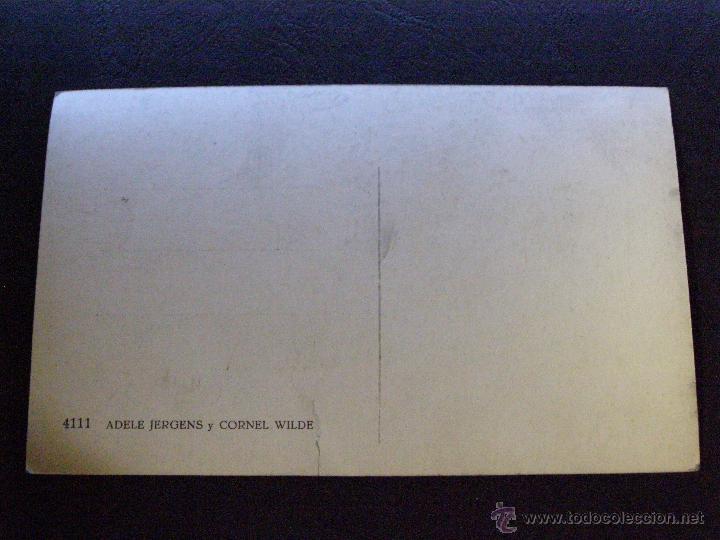 Cine: Antigua Foto-postal - Adelene Jergens y Cornell Wilde - Sin escribir - - Foto 2 - 41216542