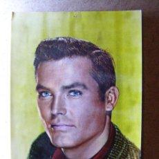 Cine: POSTAL - TY HARDIN / EN BRONCO - SERIE DE TV - WARNER BROS - SIN CIRCULAR- AÑO 1963 . Lote 41725077