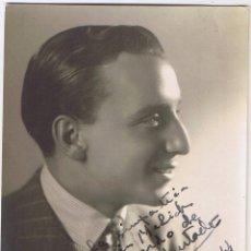 Cine: FOTOGRAFÍA DEL ARTISTA PEDRO HURTADO - FIRMADA CON DEDICATORIA - 1944 - F BIXIO Y CIA - FOTO ADICI. Lote 42199106