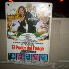 Cinema: EL PODER DEL FUEGO COBURN SOPHIA LOREN FOTOCROMO ORIGINAL EN CARTON B2. Lote 42568519