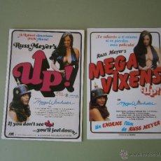 Cinema: MEGA VIXENS UP. RUSS MEYER. 2 POSTALES / 2 VERSIONES DIFERENTES. Lote 42669102
