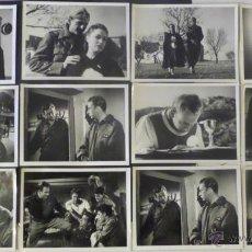 Cine: 12 FOTOGRAFIAS ORIGINALES DEL EL FRENTE INFINITO, DIRECTOR PEDRO LAZAGA, CON ADOLFO MARSILLACH. Lote 42953754