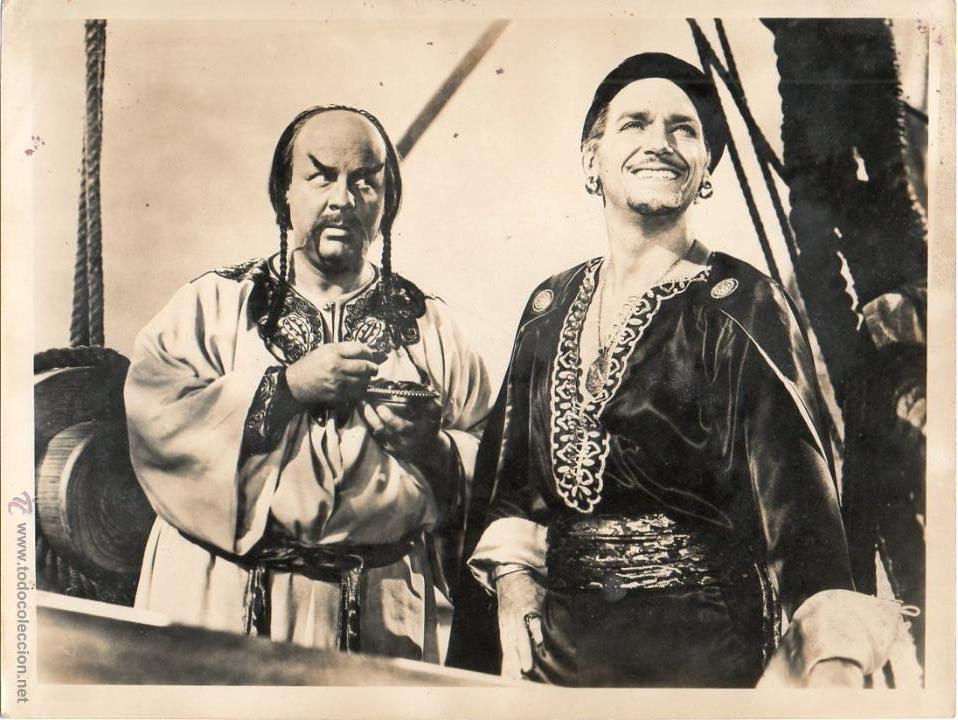 FOTOGRAFÍA SINBAD MARINO SINBAD THE SAILOR DOUGLAS FAIRBANKS WALTER SLEZAK RICHARD WALLACE 1947 (Cine - Fotos y Postales de Actores y Actrices)