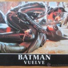 Cinema: BATMAN VUELVE, MICHELLE PFEIFFER, TIM BURTON, 12 FOTOCROMOS, F120. Lote 44175260