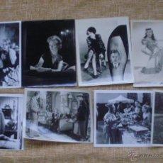Cine: LOTE DE 8 IMÁGENES DE PELÍCULAS EN BLANCO Y NEGRO DE 25,5X20,5 CM. DE LOS AÑOS 1940 A 1990. Lote 44544578