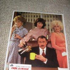 Cine: COMO ELIMINAR A SU JEFE, JANE FONDA, DOLLY PARTON, 12 FOTOCROMOS, LOBBY CARDS. Lote 44699948