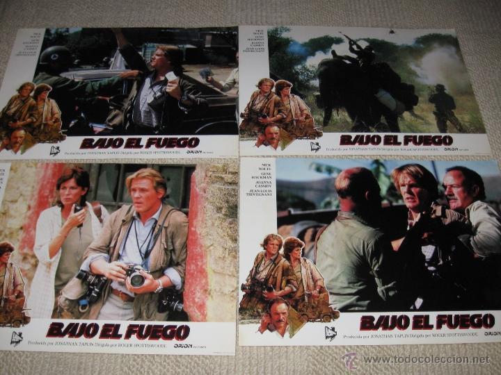 Cine: Bajo el fuego, Nick Nolte, Gene Hackman, Jean Louis Trintignant 9 fotocromos, lobby cards - Foto 3 - 44738547
