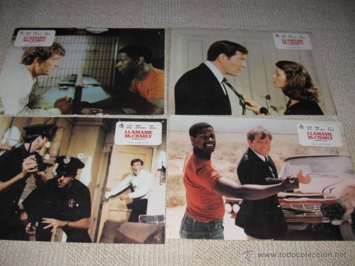 LLÁMAME MR. CHARLY, DENZEL WASHINGTON, GEORG SEGAL, SUSAN SAINT JAMES 12 FOTOCROMOS, LOBBY CARDS (Cine - Fotos, Fotocromos y Postales de Películas)