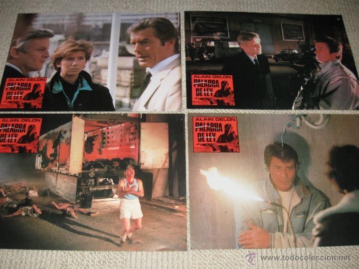 PALABRA DE LEY, ALAIN DELON 8 FOTOCROMOS, LOBBY CARDS (Cine - Fotos, Fotocromos y Postales de Películas)