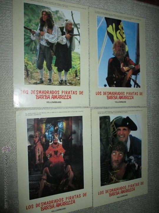 LOS DESMADRADOS PIRATAS DE LA BARBA AMARILLA, DE MEL DAMSKI 14 FOTOCROMOS, LOBBY CARDS (Cine - Fotos, Fotocromos y Postales de Películas)