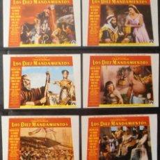 Cine: (6) LOS DIEZ MANDAMIENTOS,CHARLTON HESTON,YUL BRYNNER,ANNE BAXTER,12 FOTOCROMOS,VER TODAS LAS FOTOS. Lote 179071486