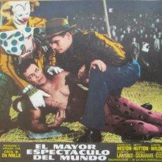 Cine: EL MAYOR ESPECTACULO DEL MUNDO, CHARLTON HESTON, JAMES STEWART, BETTY HUTTON,10 FOTOCROMOS, F288. Lote 45246332