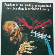 Cine: CINE POSTAL ESTRENO LA NUEVA PESADILLA DE WES CRAVEN-FREDDY KRUEGER-TAMAÑO 10,5X17 CM,VER FOTOS. Lote 45289021