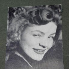 Cine: FOTO POSTAL DE LA ACTRIZ LAUREN BACALL, CIRCULADA EN BEVERLY HILLS, CALIFORNIA 1953. Lote 45403039