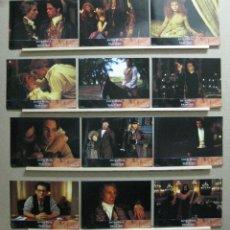Cine: ENTREVISTA CON EL VAMPIRO - TOM CRUISE, BRAD PITT, ANTONIO BANDERAS, 1994 SET COMPLETO 12 FOTOCROMOS. Lote 221654028