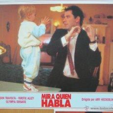 Cine: MIRA QUIEN HABLA, JOHN TRAVOLTA, KIRSTIE ALLEY, 8 FOTOCROMOS, F377. Lote 288509658