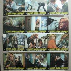 Cine: SET COMPLETO 12 FOTOCROMOS - LA MUERTE ACARICIA A MEDIANOCHE - SUSAN SCOTT, SIMON ANDREU. Lote 161373437
