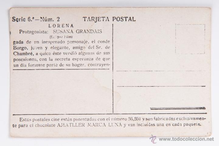 Cine: LOTE TARJETA POSTAL LORENA CHOCOLATE AMATLLER - Foto 6 - 45863912