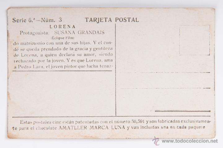Cine: LOTE TARJETA POSTAL LORENA CHOCOLATE AMATLLER - Foto 8 - 45863912