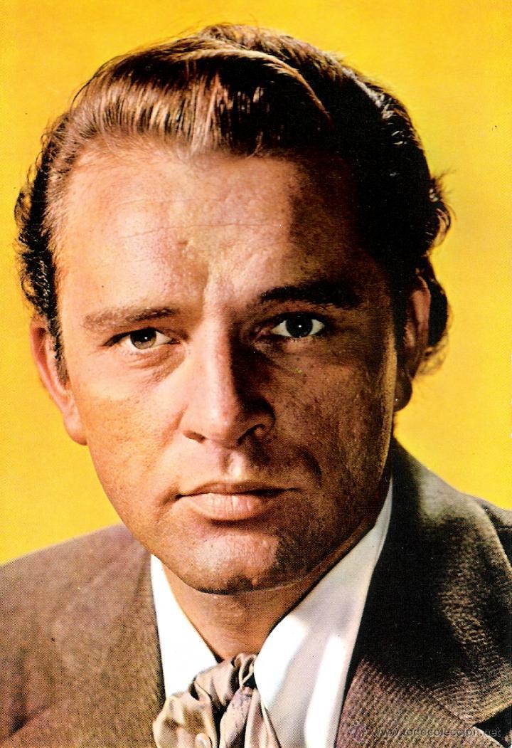RICHARD BURTON POSTAL ORIGINAL A COLOR DE LA EPOCA (Cine - Fotos y Postales de Actores y Actrices)