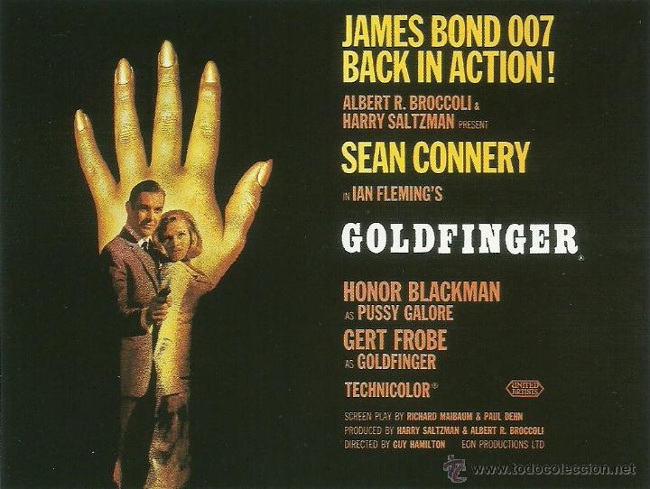Cine: JAMES BOND 007- GOLDFINGER *** ENVIO CERTIFICADO GRATIS*** - Foto 1 - 46473505