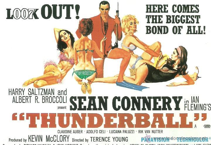 JAMES BOND 007- THUNDERBALL *** ENVIO CERTIFICADO GRATIS*** (Cine - Fotos, Fotocromos y Postales de Películas)