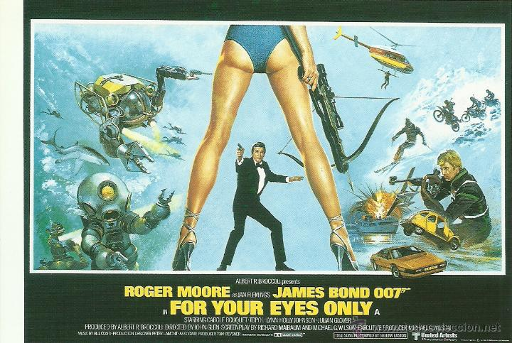 JAMES BOND 007 - FOR YOUR EYES ONLY *** ENVIO CERTIFICADO GRATIS*** (Cine - Fotos, Fotocromos y Postales de Películas)