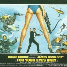 Cine: JAMES BOND 007 - FOR YOUR EYES ONLY *** ENVIO CERTIFICADO GRATIS***. Lote 46473719