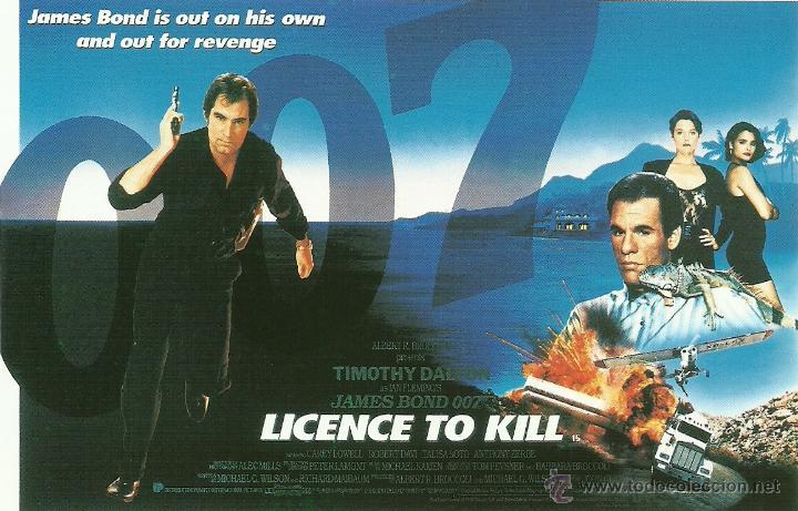 JAMES BOND 007 - LICENSE TO KILL *** ENVIO CERTIFICADO GRATIS*** (Cine - Fotos, Fotocromos y Postales de Películas)