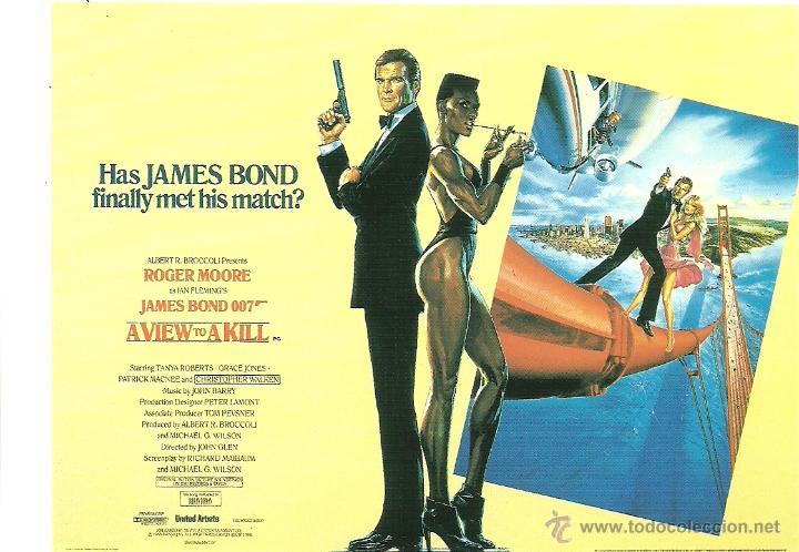 JAMES BOND 007 - A VIEW TO A KILL *** ENVIO CERTIFICADO GRATIS*** (Cine - Fotos, Fotocromos y Postales de Películas)
