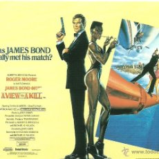 Cine: JAMES BOND 007 - A VIEW TO A KILL *** ENVIO CERTIFICADO GRATIS***. Lote 46473767